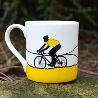 Yellow Jersey Bone China Mug - Individually Boxed