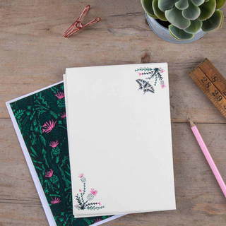 Thistles And Butterfly Writing Set
