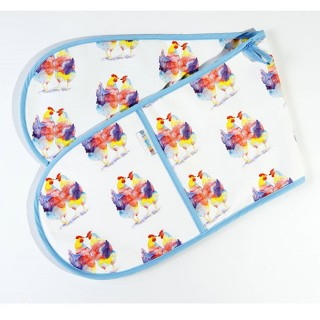 Chicken Print Oven Gloves