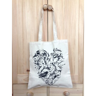 Bird Heart Tote Bag