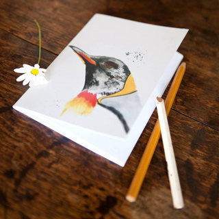 Inky Penguin Eco-friendly A6 Notebook