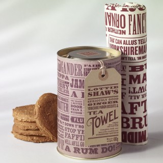 Yorkshire Biscuit & Tea Towel Gift Tube