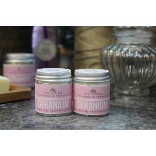 Handbag/travel Size Vegan Geranium Coconut Oil Hand And Body Cream
