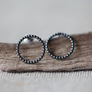 By The Light Oxidised Studs