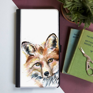 Inky Fox Faux Leather Iphone X Case With Card Slot