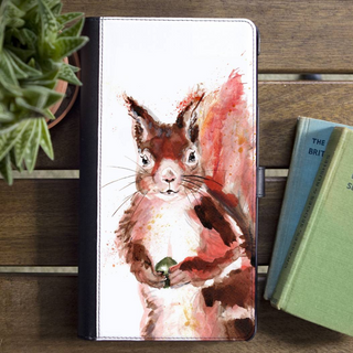 Inky Squirrel Faux Leather Wallet Iphone X Case
