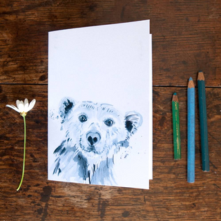 Inky Polar Bear Eco-friendly A6 Notebook
