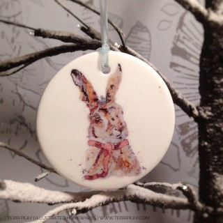 'winter Hare' Decoration