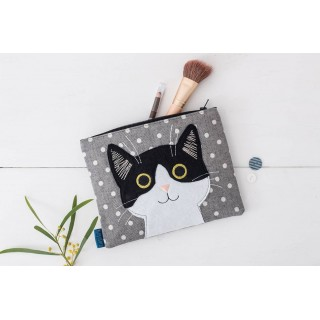 Curious Cat Cosmetics Bag