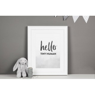 Nursery Decor Tiny Human Print A4 (unframed)