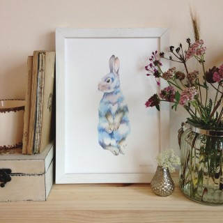 Rabbit Digital Print Unframed
