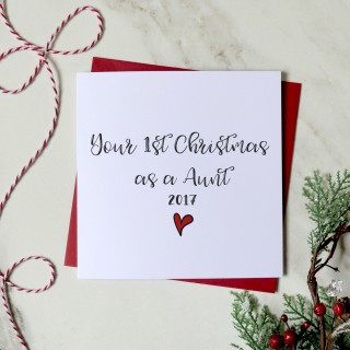 1st Christmas As A Aunt Greeting Card