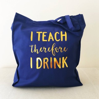 Teacher Drink Tote Bag