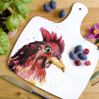 Inky Chicken Chopping Board