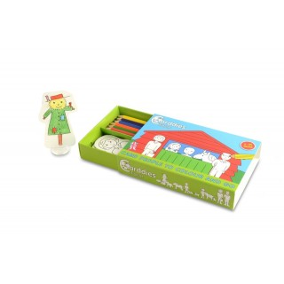 Carddies Farm Card People Colour and Play Set