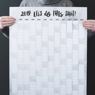 Let's Do This Shit 2019 Wall Planner
