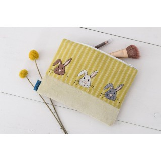 Spring Bunnies Cosmetics Bag