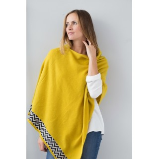 Mustard Knitted Poncho