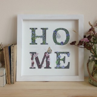 Home Typographic Nature Print Unframed