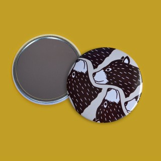 Bear Print Pocket Mirror