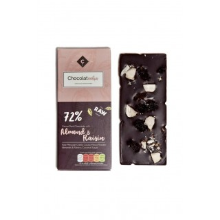 Raw Dark Chocolate With Almond & Raisin