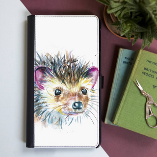 Inky Hedgehog Faux Leather Iphone X Wallet Case