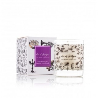 Natural Scented Candle, Ginger, Geranium and Grapefruit