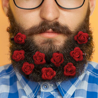 Beard Bouquet - Rose Clips