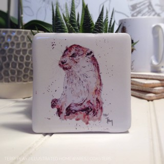 Handcrafted 'Otter' Coaster