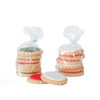 Bag of 6 christmas biscuits with CH006