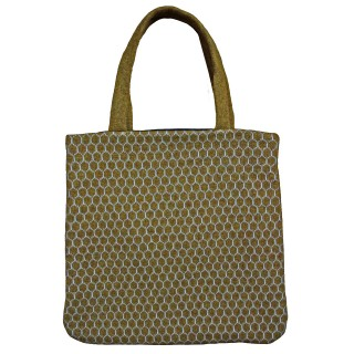 Gold Geometric Tote Bag