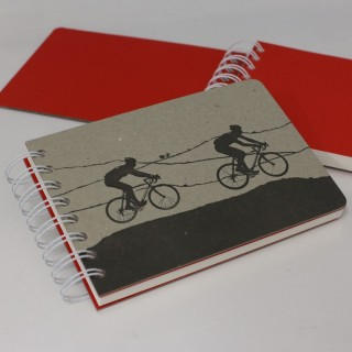 Cycle Race Notebook Orange