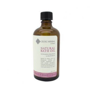 Natural Bath Oil With Rose Geranium & Grapefruit 100ml