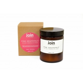 Pink Grapefruit Soy Wax + Essential Oil Candle 180ml I 45 Hour+ Burn