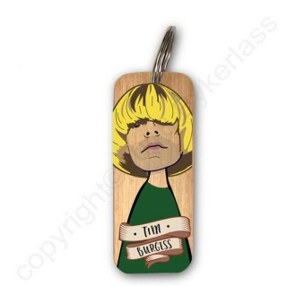 Tim Burgess Rustic Wooden Key Ring