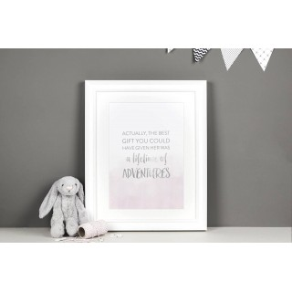 Nursery Decor Lifetime Of Adventures Print A4 (unframed)