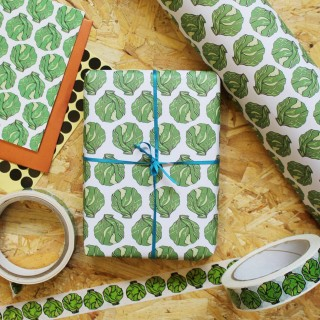 Brussel Sprout Christmas Wrapping Paper (25 Sheets