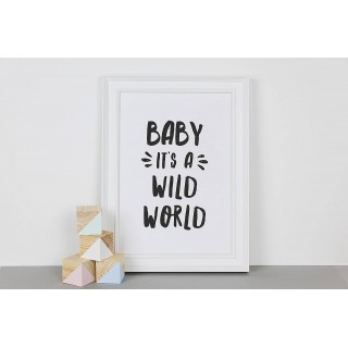 Monochrome Wild World Print A4 (unframed)