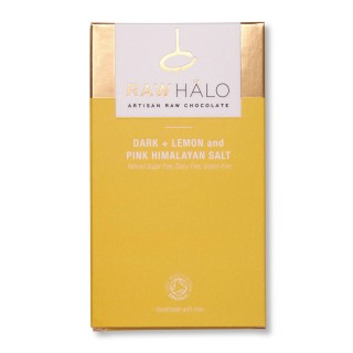 Dark, Lemon & Pink Himalayan Salt  - 35g Vegan Chocolate Bar