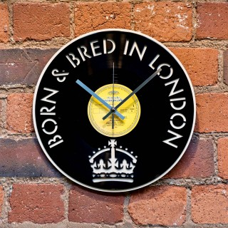 Born and Bred in London Record Style Clock