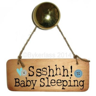 Ssshhh Baby Sleeping (boy) Rustic Wooden Sign
