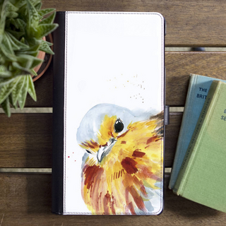 Inky Robin Faux Leather Iphone X Case