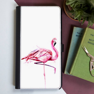 Inky Flamingo Faux Leather Iphone X Case With Card