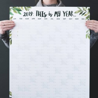 This Is My Year 2019 Wall Planner