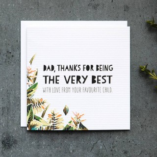 Very Best Dad Father's Day Card