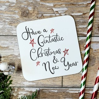 Have A Gintastic Christmas & New Year Coaster