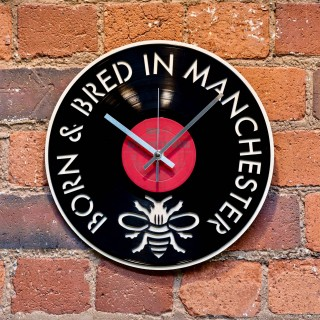 Born and Bred in Manchester Record Style Clock