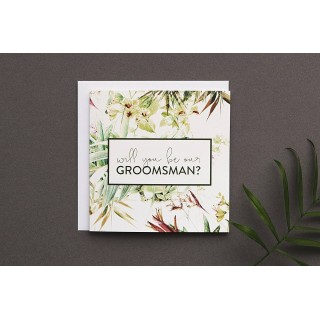 Will You Be Our Groomsman? Greetings Card
