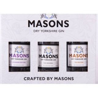Masons Yorkshire Gin 20cl Trio Gift Box