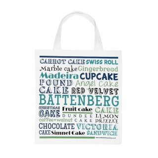 Cake Typography Tote Bag